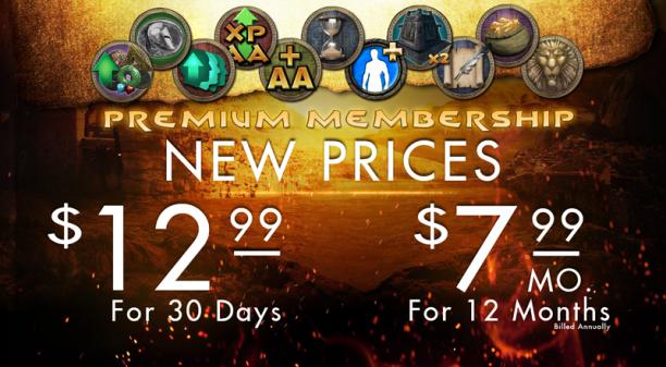 New Membership Pricing